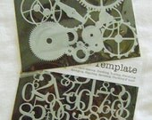 NEW Mini Numbers Collage and Mini Gears Stencils by The Crafters Workshop
