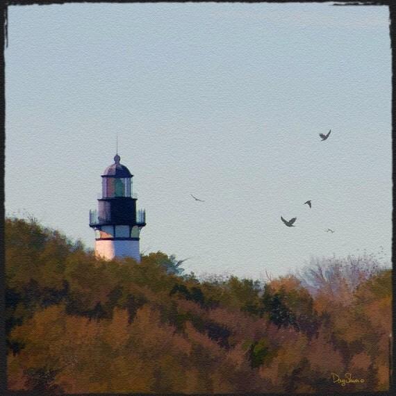 Amelia Island Lighthouse  (Watercolor Print - 12x12 - Lighthouse - Georgia - Painting - Wall Decor)