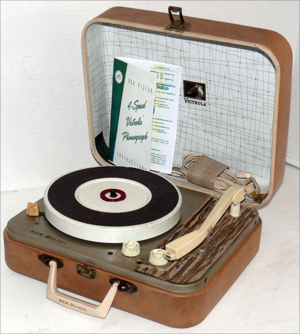 1950 S Portable Rca Record Player With Warranty