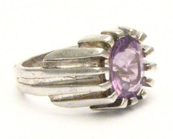 Handmade Sterling Silver Amethyst Gemstone Ring