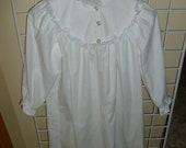 White Girls Flannel Nightgown