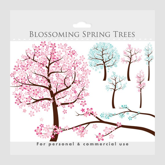 Flowers Tree Clipart Spring Clip Art By WinchesterLambourne