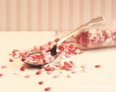 Sprinkles Photograph Photo - Heart, love, candy, nursery, kitchen decor, red, pink, medicine - Spoonful of Love - 8 x 10 Fine Art Print
