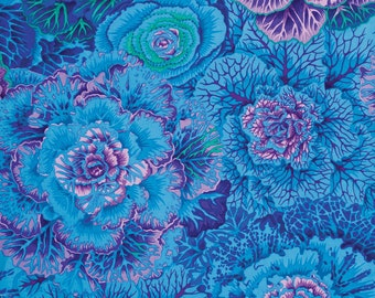 Kaffe Fassett Brassica Blue Fabric 1 yard