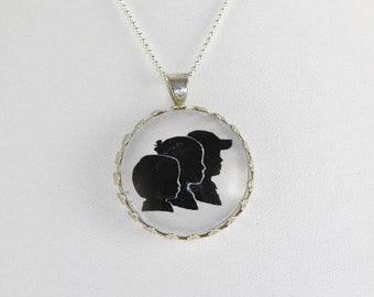 Custom Silhouette Jewelry - custom cameo from picture