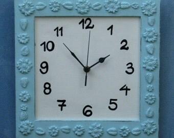 turquoise & Cream Shabby Chic Wall Clock
