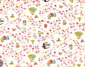 Japanese Cotton Fabric Wonderland Story Thumbelina 4 colors