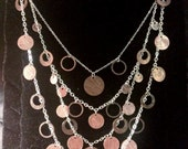 Four Layer Penny Necklace