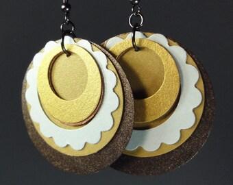 Gold Paper Earrings
