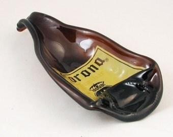 Large Corona Familiar Melted bottle - spoonrest or dish - beer bottle - large beer bottle