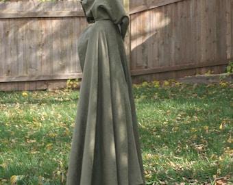 Traveler / Fellowship Olive Green Microsuede Cloak