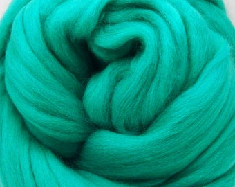 4 oz. Merino Wool Top - Turquoise