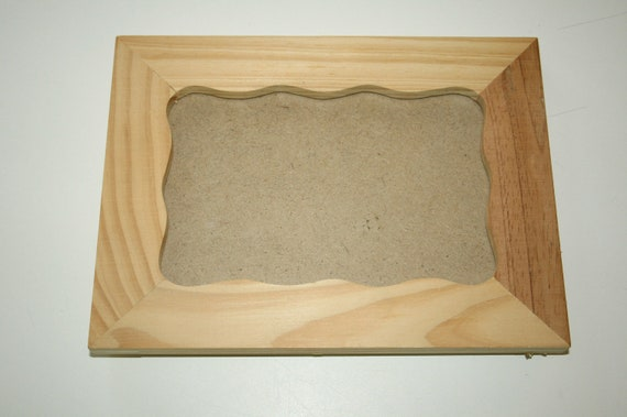 "Two blank unfinished diy natural wood frames ready to decorate 4x6"" opening rectangular"