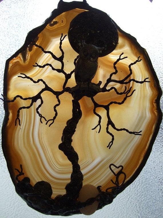 SCREECHING SILENCE -- Tree of Life Brazillian OWL Agate