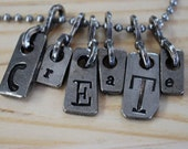 Ransom Notes Custom word necklace