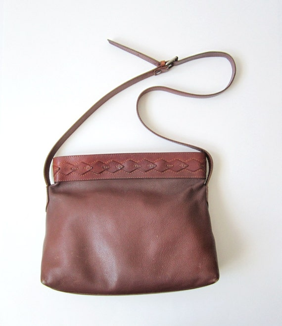 Vintage Liz Claiborne Boho Basket Leather Bag
