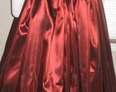 DDNJ Choose Color Fabrics Renaissance Full Silky Taffeta Skirt Plus Custom Made ANY Size Pirate Nobility Gypsy Wench Vampire Goth Costume
