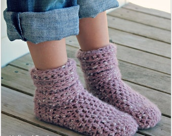 Download Now - CROCHET PATTERN Slouch Boots - Toddler and Youth - Pattern PDF