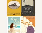 Movie posters The Coen Brothers Collection set of four 12 x 18 inches prints save 10%