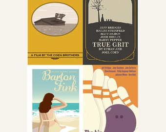 Movie posters The Coen Brothers Collection set of four prints in various sizes save 10%