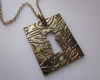 Secret Garden Gate Keyhole Necklace