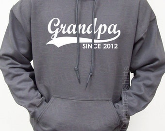GRANDPA Since New Personalized with Any Year Mens Hooded Sweatshirt Hoodie 2012 2013 Father's Day gift S-2XL