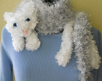 Snuggle Cat Scarf Digital Knitting Pattern