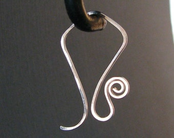 Interchangeable Earrings, Spiral Loop Kite Ear Wires, Silver Filled or Sterling Silver - Your Choice