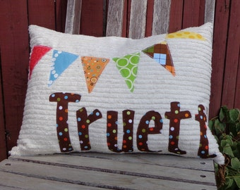 Bunting Flags Personalized Pillow