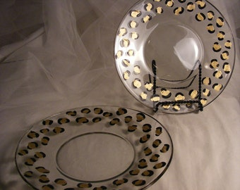 pair of leopard print appetizer, salad, or dessert plates for your holiday party