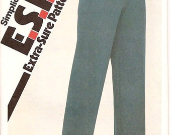 Simplicity 5149 Vintage 80s Pants Sewing Pattern Sizes 16 18 20