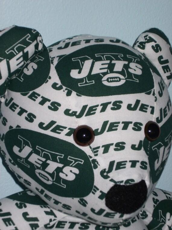 Teddy Bear New York Jets Football NFL Sports Team Mascot Green White