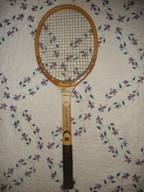 Vintage John Newcombe Signature Wooden Tennis Racquet (T-223)