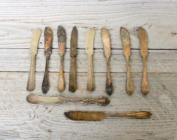 Ten Vintage Silverplate Butter Knives