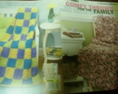 Afghan Crochet Pattern Leaflet Comfy Throws for the Family Leisure Arts 3842 Crocheting Patterns