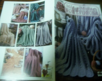 Afghan Crochet Pattern Leaflet Mile A Minutes for Everyone Leisure Arts 3033 Teresa Smith Crocheting Patterns