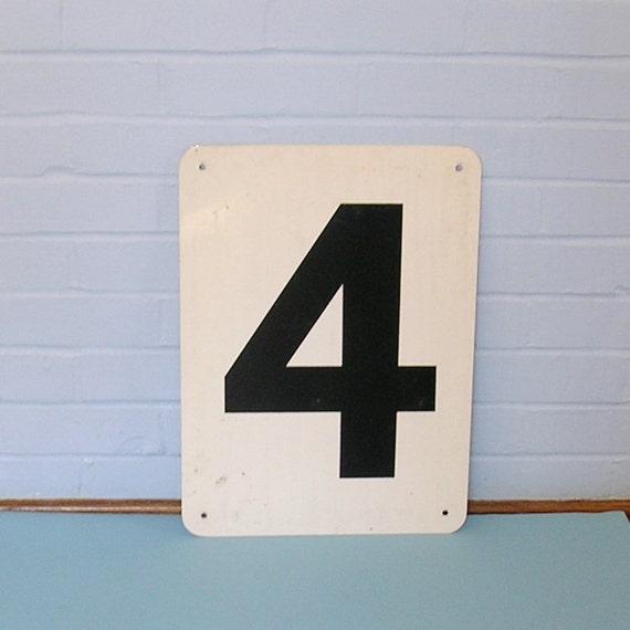 Vintage Gas Station Price Sign Number 4 or 2 Doubled Sided Gas Station Sign Mobil Oil Gas Station Sign