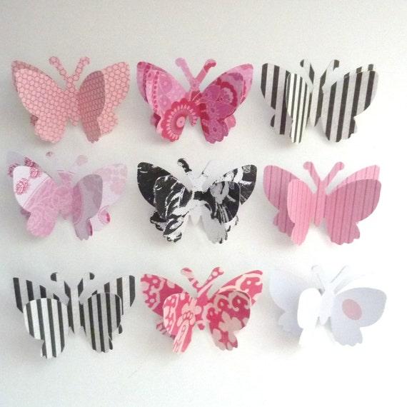 decorative push pin butterflies - ready to ship