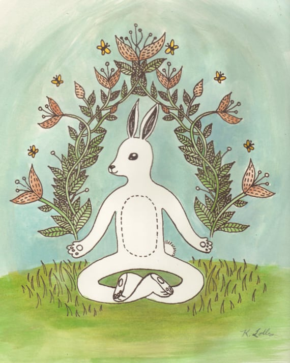White Rabbit in Lotus Position