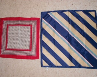 Lot of 2 Vintage Polyester Scarfs Scarves One a Totes (R) Rain Scarf