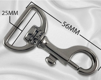 "30pcs - 1"" Metal Large Bolt Snap Hook - Black Nickel - (METAL HOOK MHK-110)"