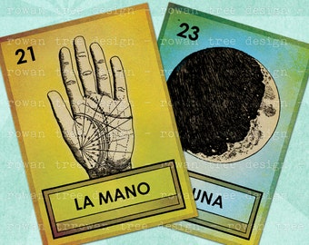 LOTERIA CARDS Part 3 Digital Collage Sheet 2.5x3.5in Printable Cards - no. 0056