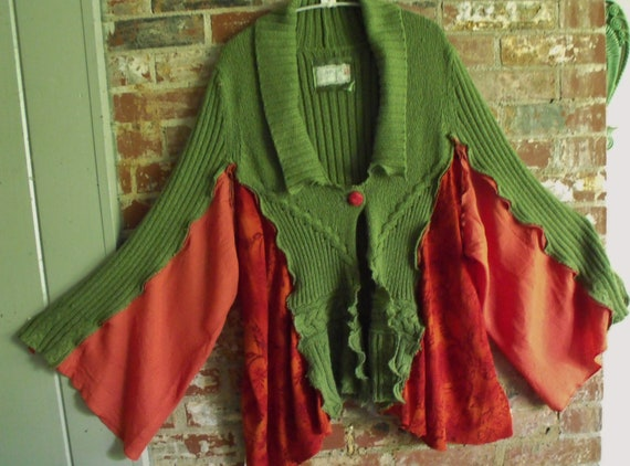 Fab. Flirty, Funky, Flowing, Patched, Deconstructed, Reconstruced, Sweater Coat