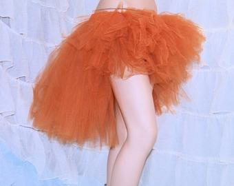 SteamPunk Copper Trashy Knee Length Bustle TuTu Skirt MTCoffinz --- Adult All Sizes