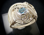 Handmade Wire Wrapped Sterling Silver Ring Size 7 3/4