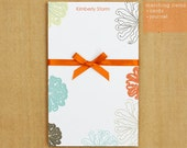 Custom Notepad Stationary - 50 sheets - Bursting Flower