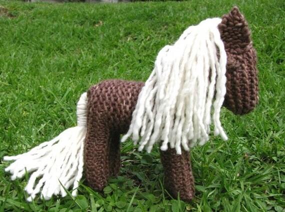 horse knitting pattern waldorf toy pdf