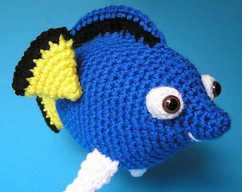 PDF Crochet Pattern TANG FISH