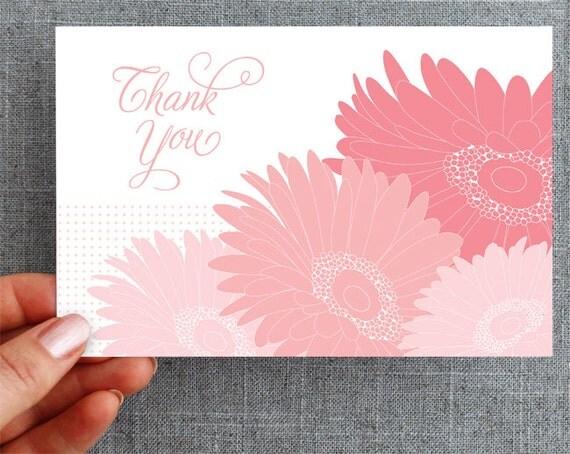 10 Gerbera Thank You Postcards
