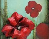 Sculpted Muslin Flower Painting
